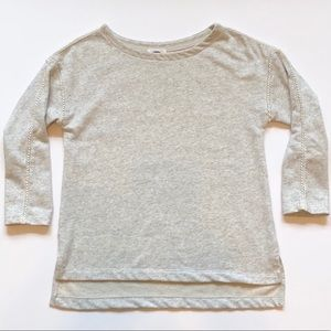 Old Navy Crochet Sleeve Insert Sweatshirt
